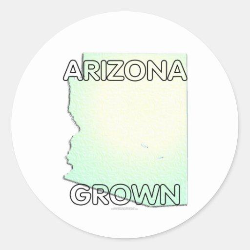 Arizona Grown Round Sticker