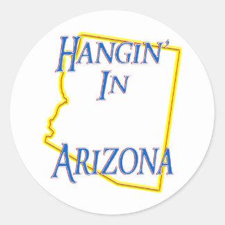 Arizona - Hangin' Classic Round Sticker