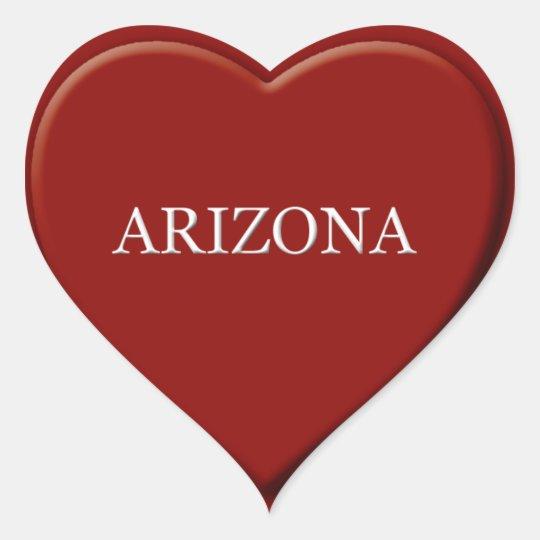 Arizona Heart Sticker