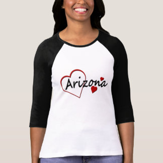 Arizona Hearts Ladies Raglan T-shirt