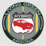 Arizona híbrido etiqueta redonda