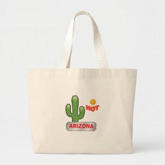 Arizona hot red large tote bag