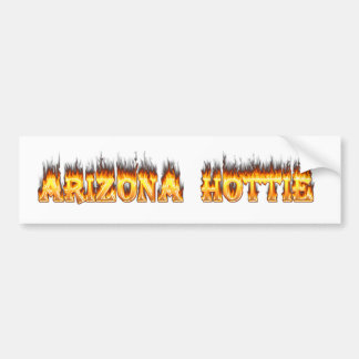 Arizona Hottie Fire and Flames Bumper Sticker