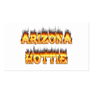 Arizona Hottie Fire and Flames Business Card Templates