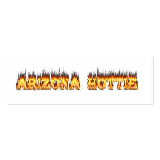 Arizona Hottie Fire and Flames Business Cards