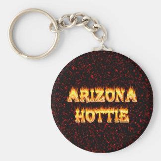Arizona Hottie flames and fire Keychain