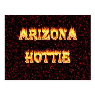 Arizona Hottie flames and fire Postcard