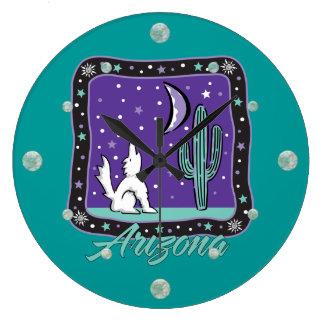 Arizona Howling Coyote Wall Clock