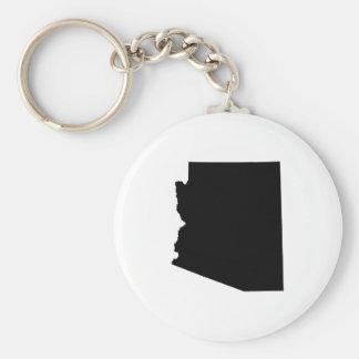 Arizona in Black Key Chain