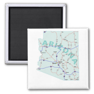Arizona Interstate Map Magnet