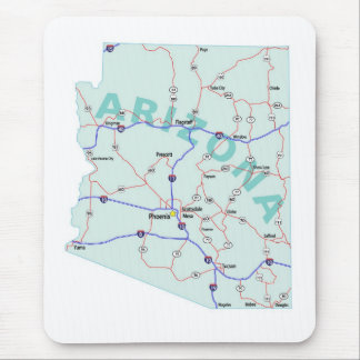 Arizona Interstate Map Mousepad