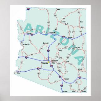 Arizona Interstate Map Print