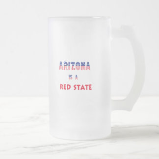 Arizona is a Red State Frosted Glass Beer Mug