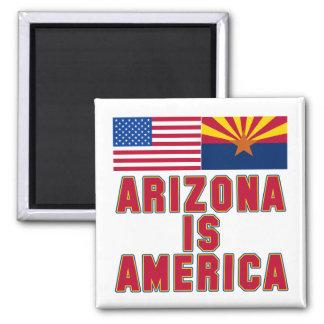 Arizona IS America Pro Arizona Tshirts 2 Inch Square Magnet
