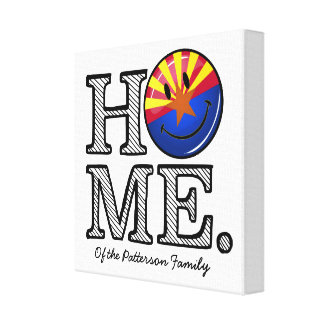 Arizona is Home Smiling Flag House Warmer Canvas Print