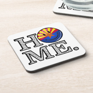 Arizona is Home Smiling Flag House Warmer Drink Coaster