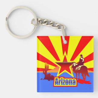 Arizona Single-Sided Square Acrylic Keychain