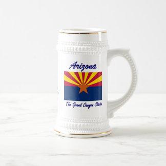Arizona la cerveza Stein del estado del Gran Cañón Jarra De Cerveza