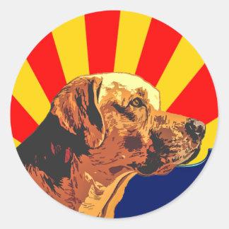 Arizona Labrador Classic Round Sticker