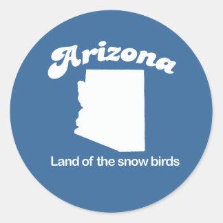 Arizona - Land of the snow birds T-shirt Classic Round Sticker
