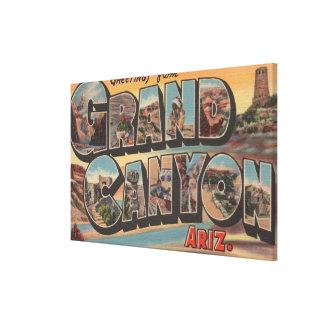 Arizona- Large Letter ScenesArizona Canvas Print