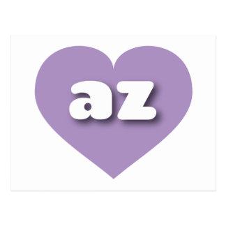 Arizona lavender heart - mini love postcard