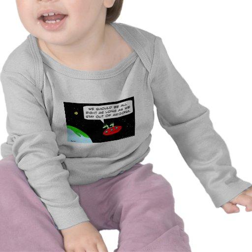 arizona law aliens illegal t-shirt