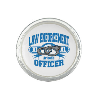 Arizona Law Enforcement Officer Handcuffs Photo Ring