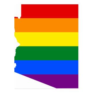 Arizona LGBT Flag Map Postcard
