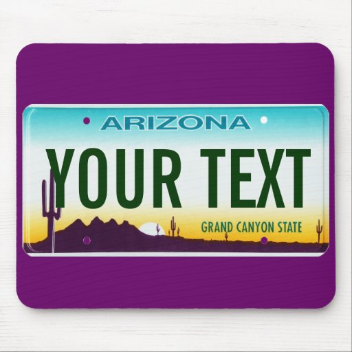 Arizona license plate mouse pad | Zazzle