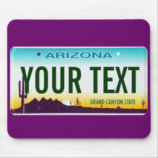 Arizona license plate mouse pad
