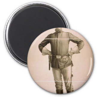 Arizona, 'Lieutenant Denton' Vintage Theater Fridge Magnet
