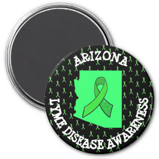 Arizona Lyme Disease Awareness Ribbons Tick Magnet