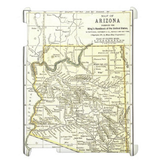 Arizona Map 1891 Towns, Rail, Indian Reservations iPad Cover