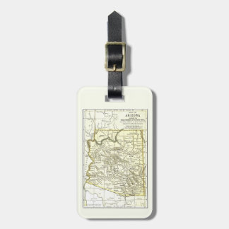 Arizona Map 1891 Towns, Rail, Indian Reservations Luggage Tag