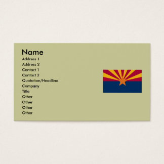 Arizona Map and State Flag Business Card