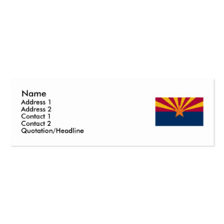 Arizona Map and State Flag Double-Sided Mini Business Cards (Pack Of 20)