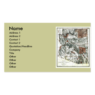 Arizona Map and State Flag Double-Sided Standard Business Cards (Pack Of 100)