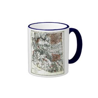 Arizona Map and State Flag Ringer Mug