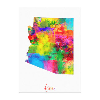 Arizona Map Canvas Print