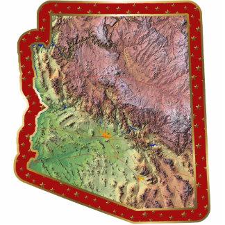Arizona Map Christmas Ornament Cut Out