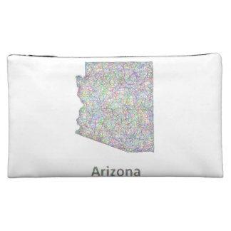 Arizona map cosmetic bag