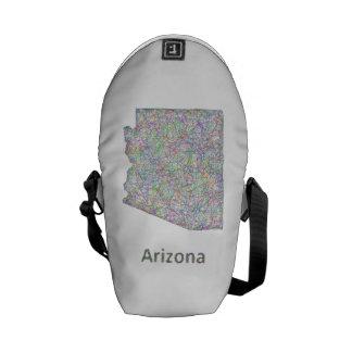 Arizona map courier bag