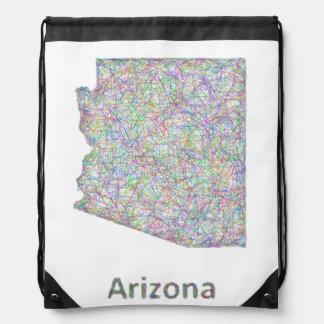 Arizona map drawstring backpack