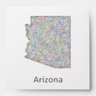 Arizona map envelope