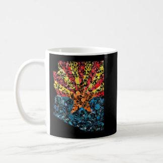 Arizona map & flag USA United States painting Coffee Mug