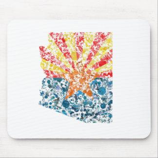 Arizona map & flag USA United States painting Mouse Pad