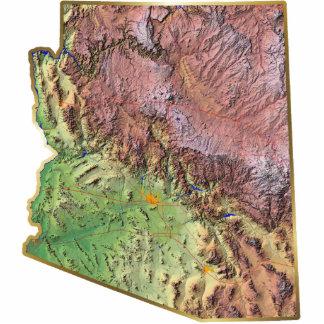 Arizona Map Keychain Cut Out