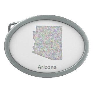 Arizona map oval belt buckles