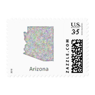 Arizona map postage